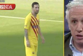 """Eduardo Inda saca los trapos sucios del Barça en 'El Chiringuito': """"Messi ha roto su relación con Piqué"""""""