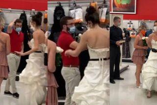 'Bridezilla': la chica con vestido de novia, madrina y cura, embosca al chico y le exige que se case allí mismo