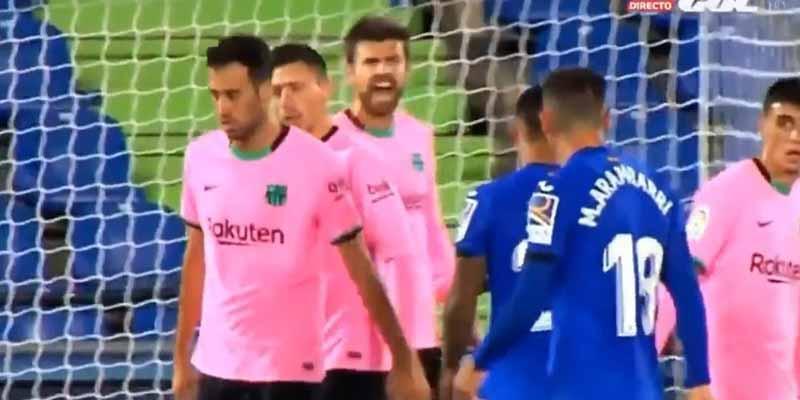 """La bronca bestial de Piqué a sus vagos compañeros en el Getafe-Barça: """"Puta hostia, qué poca sangre, joder"""""""