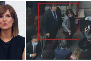 ¿Emitirá Mónica López (TVE) las imágenes de Ábalos y Lastra fumando como carreteros en el patio del Congreso y sin guardar las distancias?