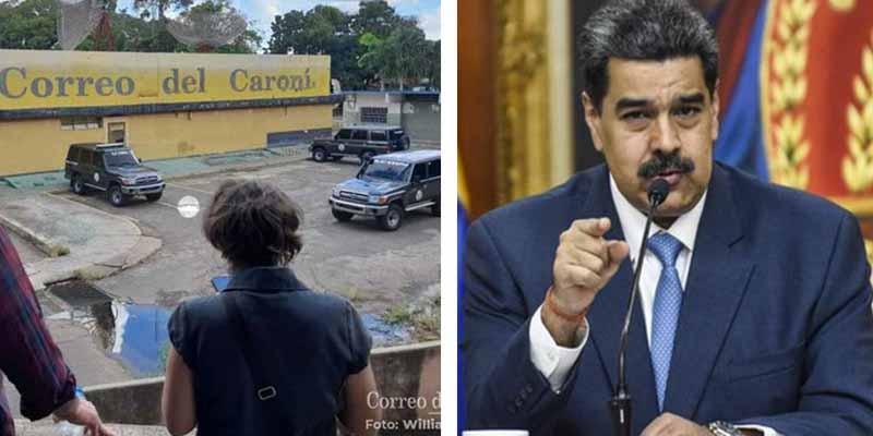 La dictadura venezolana detiene a dos periodistas y allana la sede del periódico Correo del Caroní