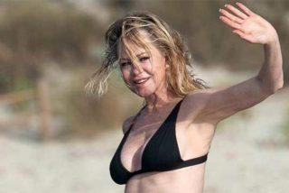 Sin filtros yen ropa interior Melanie Griffith luce espectacular a sus 63 años