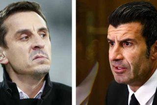 """Luis Figo y Gary Neville 'estallan' contra la Premier League Europea: """"Parecen matones, destruirá el fútbol que conocemos"""""""