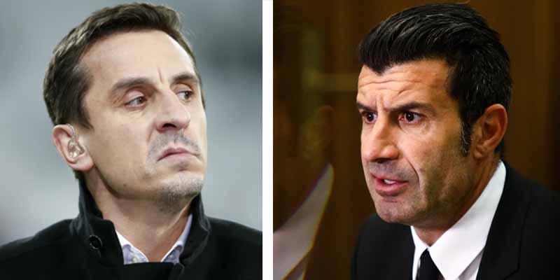"""Figo y Neville 'estallan' contra la Superliga: """"Parecen matones, destruirá el fútbol que conocemos"""""""