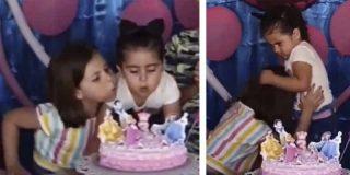 La historia detrás del vídeo de la niña que apagó las velas en el cumpleaños de su hermana y terminó en pelea