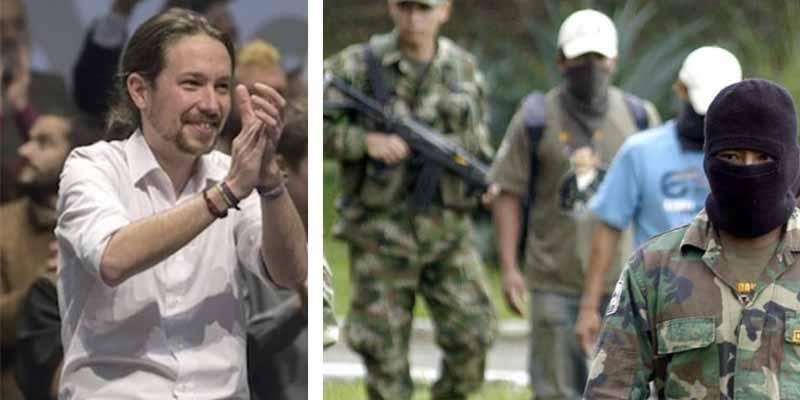 El partido de Pablo Iglesias apoya abiertamente al grupo terrorista colombiano FARC