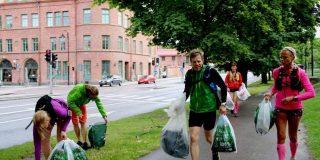 'Plopping': un deporte nuevo que consiste en correr y recoger basura