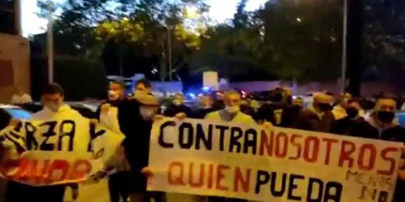"""""""Madrid será la tumba de los menas"""": las protestas contra las brutales agresiones con palos, clavos y correas en San Blas"""