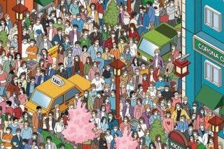 Reto Viral: ¿a qué no eres capaz de localizar a la única persona que va sin mascarilla?