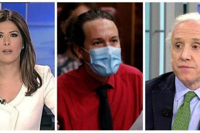 TVE se convierte en la correa de transmisión de Pablo Iglesias para enfangar a Eduardo Inda en el 'caso Dina'