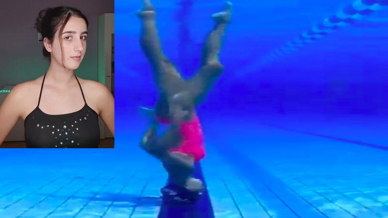 Silvia Solymosyová, la nadadora que camina en el agua boca abajo y arrasa en TikTok
