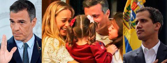 La llegada de Leopoldo López a Madrid: ¿El regalo de 'despedida' de Pedro Sánchez a Juan Guaidó?