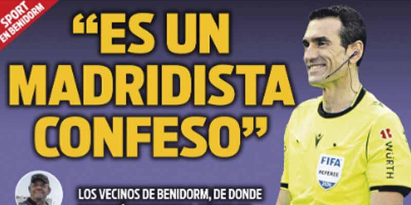 """El diario catalán Sport, repudiado por investigar al árbitro del Barça-Madrid y a su familia: """"Esto no es periodismo"""""""
