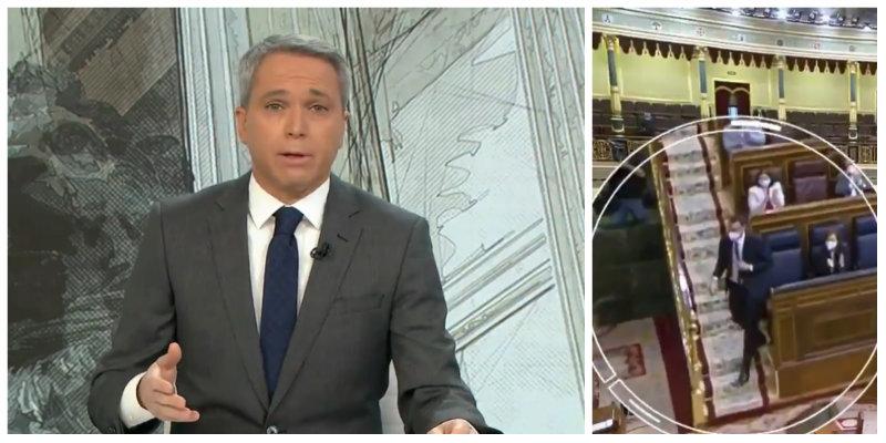 Vicente Vallés da un serio correctivo a Pedro Sánchez por su espantada en el Congreso