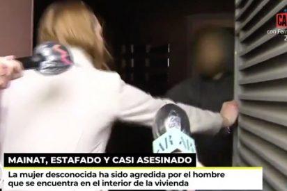 Brutal agresión en directo a una mujer en la vivienda de Josep Maria Mainat