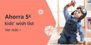 Compra juguetes en Amazon y ahorra 5 €, con la Kids' Wish List 🎁