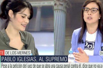 """Una diputada del PP destapa a la podemita Isa Serra en Telecinco: """"Estás condenada a 19 meses de cárcel… ¡Y aquí, sin dimitir!"""""""