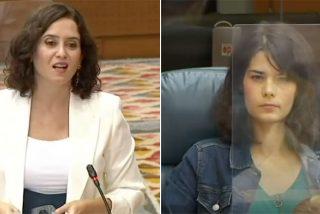 """Ayuso 'barre' a la exaltada podemita de la Asamblea: """"¡Digan en Vallecas que les quieren restringir la movilidad por meses y sin criterio!"""""""