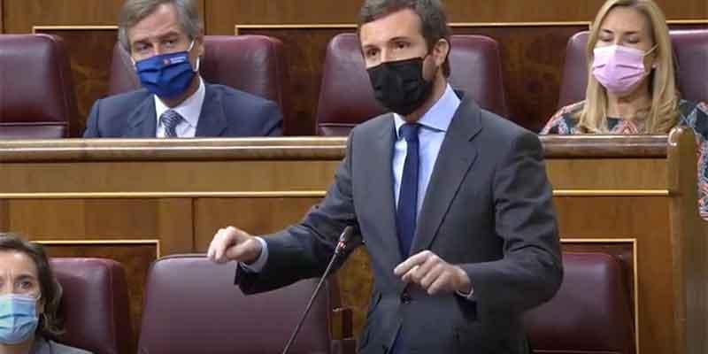 """Casado sacude a Sánchez: """"Menos 'Aló presidente' y más venir al Parlamento a rendir cuentas"""""""