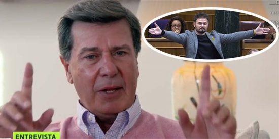 """Cayetano Martínez de Irujo ajusticia a Rufián: """"Es un insulto para los españoles"""""""
