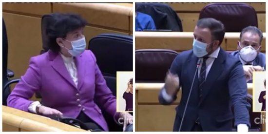 """Troleo de altura de un senador del PP a la ministra Celaá: """"Esta tarde sale un vuelo a Bilbao, cójalo y dimita"""""""