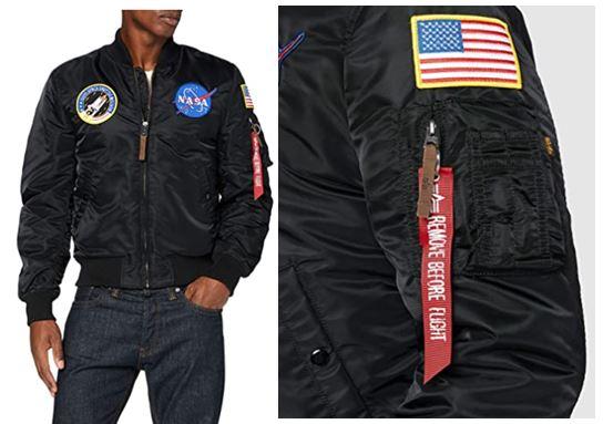chaquetas bomber con logos NASA