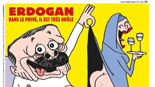 Turquía declara la 'guerra' a Charlie Hebdo por publicar una caricatura de Erdogan y mencionar a Mahoma