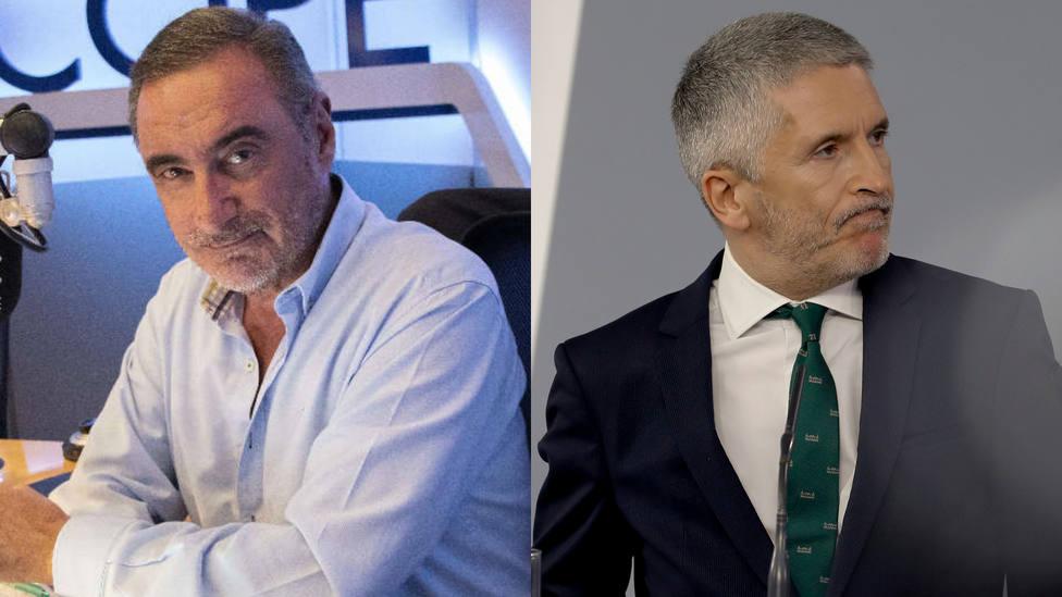 Marlaska apuñala a la Policía e indigna a los agentes: prohíbe investigar las amenazas a Carlos Herrera