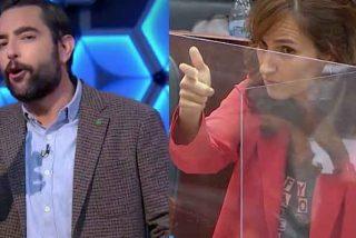 Dani Mateo pasa de moquear la bandera de España a burlarse de la amenaza de una diputada de Más Madrid al PP