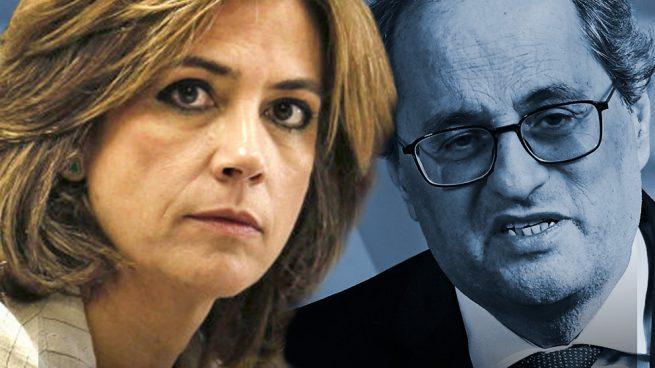 La 'vidorra' del inhabilitado Quim Torra: la Fiscalía de Dolores Delgado autoriza que mantenga el sueldo y honores de expresidente