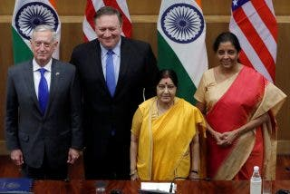India y EEUU refuerzan su acuerdo militar para frenar a China