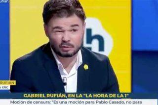 Cayetana y Aguirre tenían razón: Rufián se pasea en TVE insultando al Rey sin que nadie le chiste