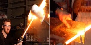 Crean el primer sable láser 'real' a lo Star Wars que es capaz de cortar el acero como si fuera mantequilla