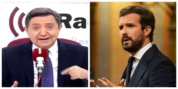 """Losantos rompe con Pablo Casado: """"Si no quieres hacer oposición, pásate a Ciudadanos"""""""