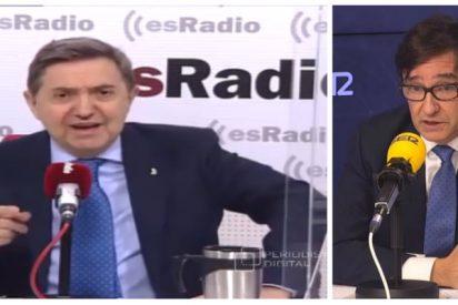 """Losantos: """"La candidatura de Illa es el triunfo de la desvergüenza de Sánchez"""""""