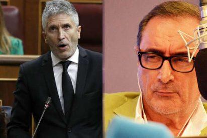"Carlos Herrera fulmina a Marlaska: ""Te dedicas a acercar a sanguinarios asesinos etarras a su casa"""