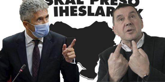 """La excusa de Sánchez y Marlaska para el acercamiento de presos de ETA: """"Es aconsejable para su reinserción"""""""