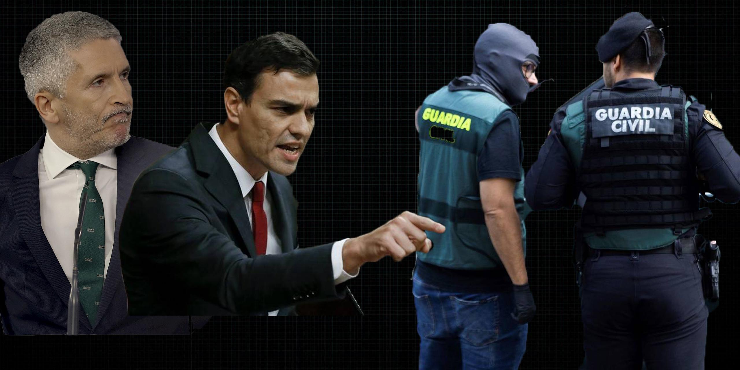 La durísima carta de la Guardia Civil a Sánchez y Marlaska por despreciar, hasta tres años después, a los agentes que actuaron en el 1-O