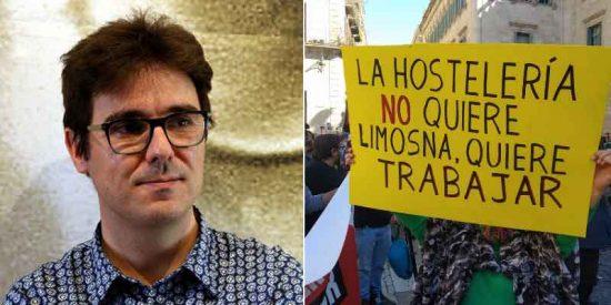 """Un colaborador de la TV3, a los camareros en paro tras el cierre de bares en Cataluña: """"Aprovechad para aprender catalán, que luego todo son excusas"""""""