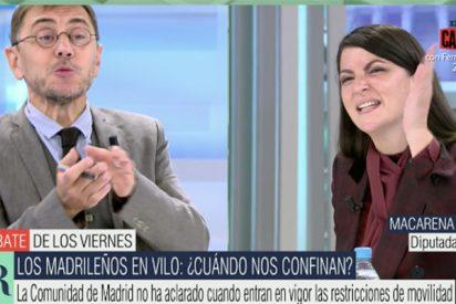 Monedero 'saca' a los hijos de Iglesias en Telecinco y Olona lo pisotea