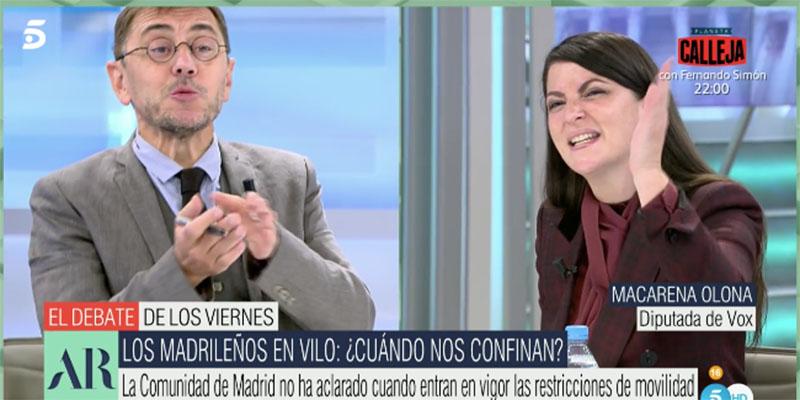 """Monedero 'saca' a los hijos de Iglesias en Telecinco y Olona lo pisotea: """"Eres un mentiroso y un indecente, ¡sinvergüenza!"""""""