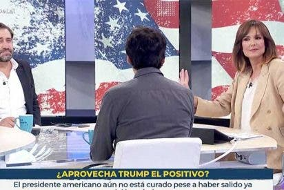 Mónica López reprocha a su politólogo de cabecera los sopapos que le dan a TVE