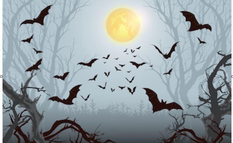 murciélagos en Halloween