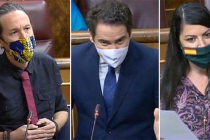 """García Egea (PP) y Olona (VOX) 'calientan' a Pablo Iglesias en el Congreso: """"Ahora que lleva la nuca más despejada… ¿Lo nota? Es el aliento de la Justicia"""""""