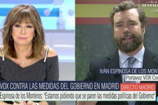 """Espinosa de los Monteros (VOX) 'coge de la pechera' a Aguado (Cs): """"¡Es la izquierda infiltrada en Madrid!"""""""