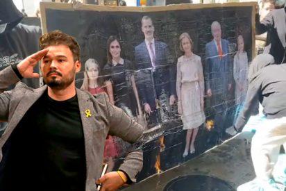 Un Gabriel Rufián obsesionado con la Monarquía usa a Kanye West y la votación de EEUU para atacar a Felipe VI