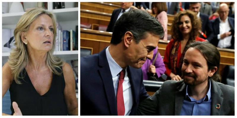 Isabel San Sebastián pone sobre la mesa 140.000 millones de argumentos para frenar la tropelía judicial de Sánchez e Iglesias