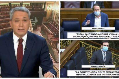 La pieza de Vallés que no verás en TVE: Dos minutazos denunciando los ataques del Gobierno y sus socios a Felipe VI