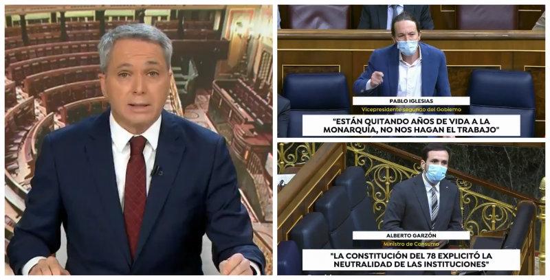 Lo de Vallés que no verás en TVE: Dos minutos denunciando ataques del Gobierno a Felipe VI