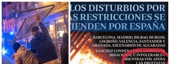 """La pinza de 'ABC' con 'El País' para culpar a VOX de """"apoyar"""" a los violentos causa indignación en las redes"""